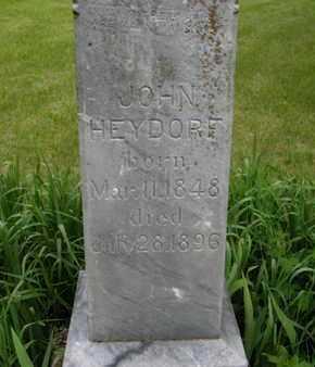 HEYDORF, JOHN (CLOSE UP) - Marshall County, Kansas | JOHN (CLOSE UP) HEYDORF - Kansas Gravestone Photos