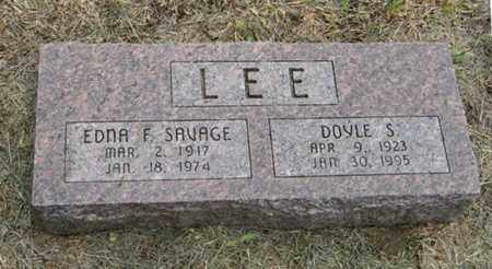 SAVAGE LEE, EDNA F - Marshall County, Kansas | EDNA F SAVAGE LEE - Kansas Gravestone Photos