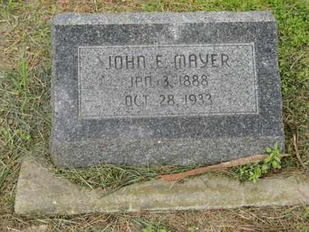 MAYER, JOHN E - Marshall County, Kansas   JOHN E MAYER - Kansas Gravestone Photos