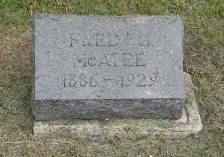 MCATEE, FRED G - Marshall County, Kansas   FRED G MCATEE - Kansas Gravestone Photos