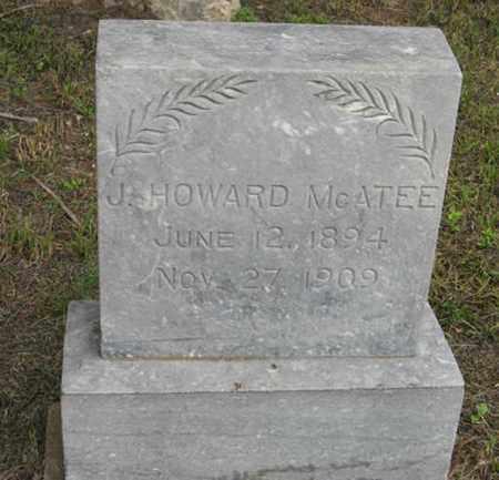 MCATEE, J  HOWARD - Marshall County, Kansas   J  HOWARD MCATEE - Kansas Gravestone Photos
