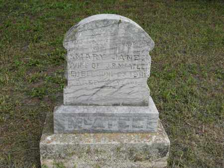 MCATEE, MARY JANE - Marshall County, Kansas | MARY JANE MCATEE - Kansas Gravestone Photos