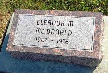 MCDONALD, ELEANOR M - Marshall County, Kansas | ELEANOR M MCDONALD - Kansas Gravestone Photos