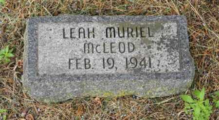 MCLEOD, LEAH MURIEL - Marshall County, Kansas | LEAH MURIEL MCLEOD - Kansas Gravestone Photos
