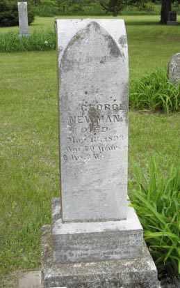 NEWMAN, GEORGE - Marshall County, Kansas | GEORGE NEWMAN - Kansas Gravestone Photos