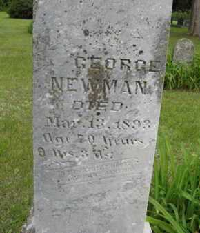 NEWMAN, GEORGE (CLOSE UP) - Marshall County, Kansas | GEORGE (CLOSE UP) NEWMAN - Kansas Gravestone Photos