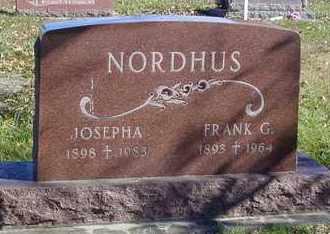 NORDHUS, FRANK GEORGE  (VETERAN WWI) - Marshall County, Kansas   FRANK GEORGE  (VETERAN WWI) NORDHUS - Kansas Gravestone Photos