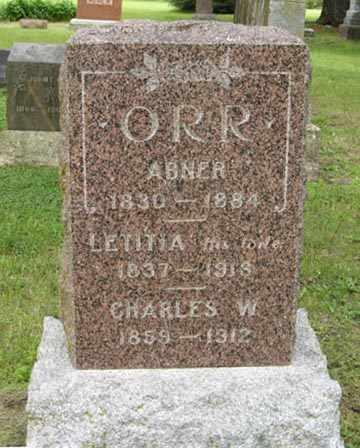 ORR, LETITIA - Marshall County, Kansas | LETITIA ORR - Kansas Gravestone Photos