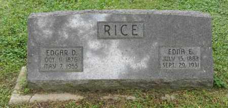 RICE, EDNA E - Marshall County, Kansas | EDNA E RICE - Kansas Gravestone Photos