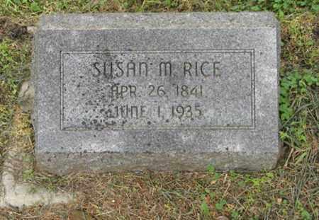 RICE, SUSAN M - Marshall County, Kansas   SUSAN M RICE - Kansas Gravestone Photos