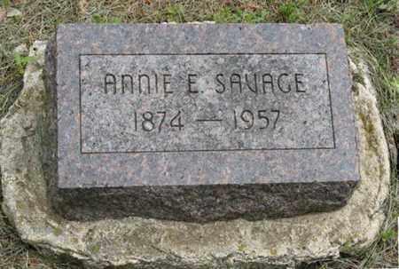 SAVAGE, ANNIE E - Marshall County, Kansas | ANNIE E SAVAGE - Kansas Gravestone Photos