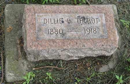 TALBOT, DILLIE B - Marshall County, Kansas | DILLIE B TALBOT - Kansas Gravestone Photos