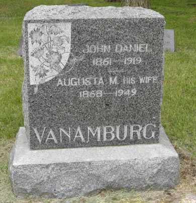 VAN AMBURG, JOHN DANIEL - Marshall County, Kansas | JOHN DANIEL VAN AMBURG - Kansas Gravestone Photos