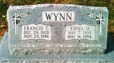 WYNN, EMMA D - Marshall County, Kansas | EMMA D WYNN - Kansas Gravestone Photos