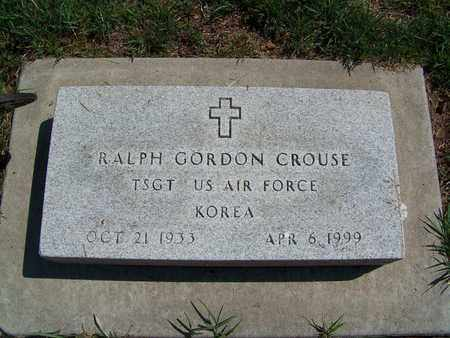 CROUSE, RALPH GORDON  (VETERAN KOR) - McPherson County, Kansas | RALPH GORDON  (VETERAN KOR) CROUSE - Kansas Gravestone Photos