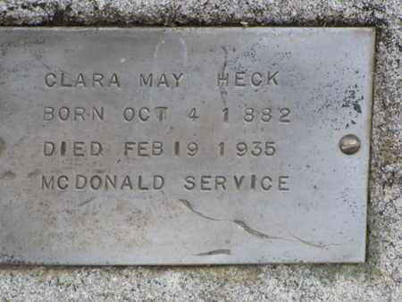 MAY HECK, CLARA - Mitchell County, Kansas | CLARA MAY HECK - Kansas Gravestone Photos