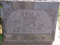 MOORE, OWEN L - Mitchell County, Kansas   OWEN L MOORE - Kansas Gravestone Photos