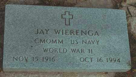 WIERENGA, JAY   (VETERAN WWII) - Mitchell County, Kansas | JAY   (VETERAN WWII) WIERENGA - Kansas Gravestone Photos