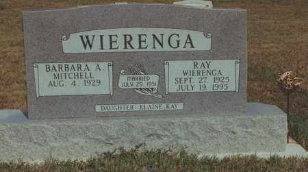 WIERENGA, RAY - Mitchell County, Kansas | RAY WIERENGA - Kansas Gravestone Photos