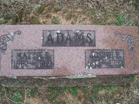 ADAMS, JOSEPH E - Montgomery County, Kansas | JOSEPH E ADAMS - Kansas Gravestone Photos