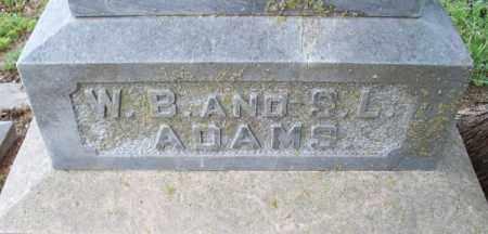 ADAMS, S  L  - Montgomery County, Kansas | S  L  ADAMS - Kansas Gravestone Photos