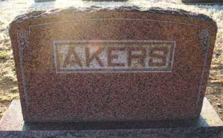 AKERS FAMILY STONE,  - Montgomery County, Kansas    AKERS FAMILY STONE - Kansas Gravestone Photos