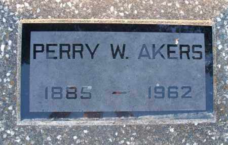 AKERS, PERRY W - Montgomery County, Kansas | PERRY W AKERS - Kansas Gravestone Photos