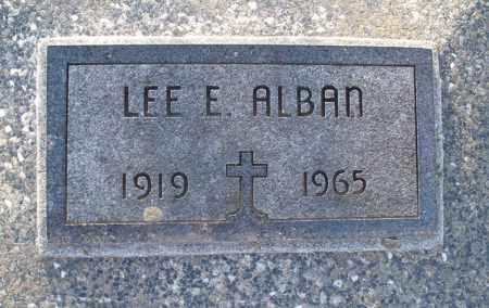 ALBAN, LEE E - Montgomery County, Kansas   LEE E ALBAN - Kansas Gravestone Photos