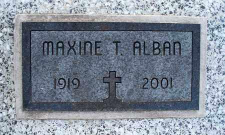 ALBAN, MAXINE T - Montgomery County, Kansas | MAXINE T ALBAN - Kansas Gravestone Photos