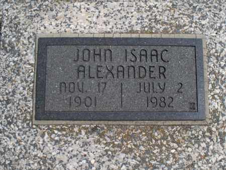 ALEXANDER, JOHN ISAAC - Montgomery County, Kansas | JOHN ISAAC ALEXANDER - Kansas Gravestone Photos