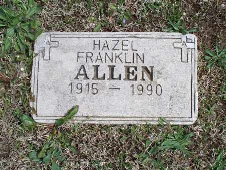 ALLEN, HAZEL - Montgomery County, Kansas | HAZEL ALLEN - Kansas Gravestone Photos