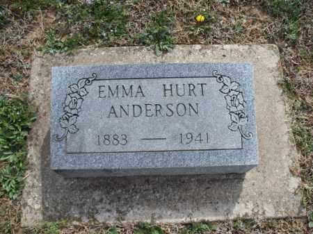 ANDERSON, EMMA - Montgomery County, Kansas   EMMA ANDERSON - Kansas Gravestone Photos