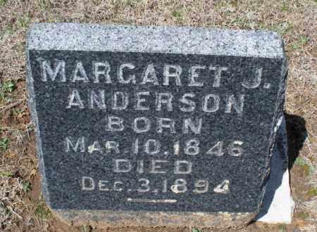 ANDERSON, MARGARET J. - Montgomery County, Kansas   MARGARET J. ANDERSON - Kansas Gravestone Photos