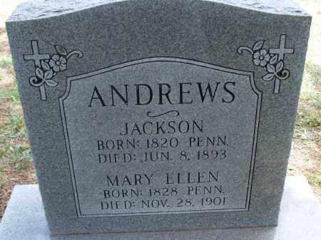 ANDREWS, JACKSON - Montgomery County, Kansas | JACKSON ANDREWS - Kansas Gravestone Photos