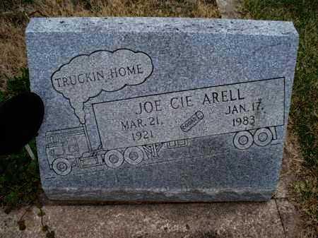 ARELL, JOE CIE - Montgomery County, Kansas   JOE CIE ARELL - Kansas Gravestone Photos