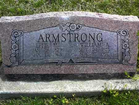 ARMSTRONG, WILLIAM A - Montgomery County, Kansas | WILLIAM A ARMSTRONG - Kansas Gravestone Photos