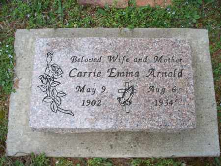 ARNOLD, CARRIE EMMA - Montgomery County, Kansas | CARRIE EMMA ARNOLD - Kansas Gravestone Photos