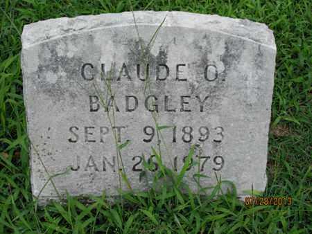 BADGLEY, CLAUDE O - Montgomery County, Kansas | CLAUDE O BADGLEY - Kansas Gravestone Photos