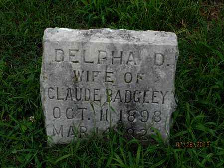 BADGLEY, DELPHA D - Montgomery County, Kansas | DELPHA D BADGLEY - Kansas Gravestone Photos