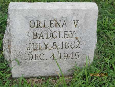 BADGLEY, ORLENA V - Montgomery County, Kansas | ORLENA V BADGLEY - Kansas Gravestone Photos