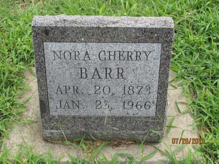 CHERRY BARR, NORA - Montgomery County, Kansas | NORA CHERRY BARR - Kansas Gravestone Photos