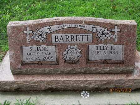 BARRETT, S JANE - Montgomery County, Kansas | S JANE BARRETT - Kansas Gravestone Photos