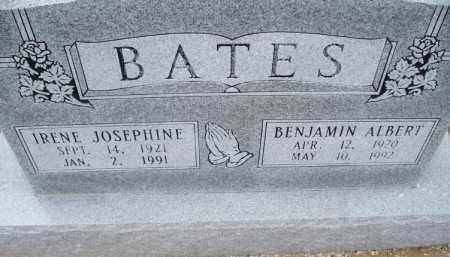 BATES, IRENE JOSEPHINE - Montgomery County, Kansas | IRENE JOSEPHINE BATES - Kansas Gravestone Photos