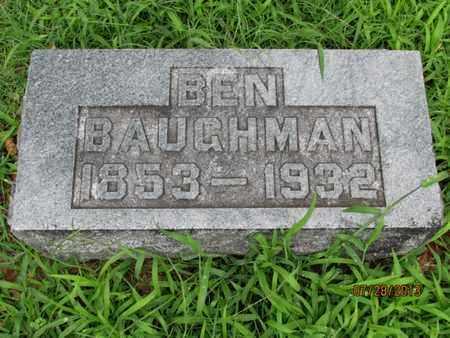 BAUGHMAN, BEN - Montgomery County, Kansas   BEN BAUGHMAN - Kansas Gravestone Photos
