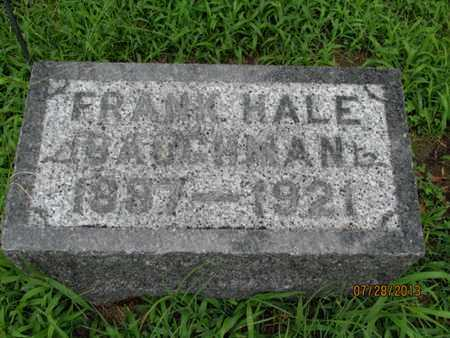 BAUGHMAN, FRANK HALE - Montgomery County, Kansas | FRANK HALE BAUGHMAN - Kansas Gravestone Photos