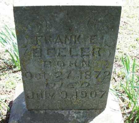 BEELER, FRANK E - Montgomery County, Kansas   FRANK E BEELER - Kansas Gravestone Photos