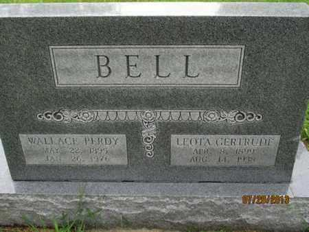 BELL, WALLACE PERDY - Montgomery County, Kansas | WALLACE PERDY BELL - Kansas Gravestone Photos