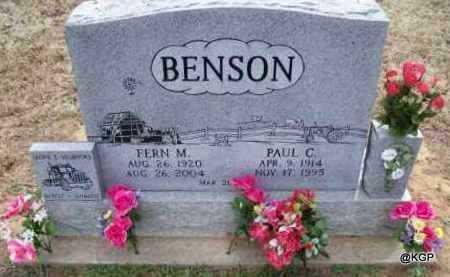 BENSON, PAUL C. - Montgomery County, Kansas | PAUL C. BENSON - Kansas Gravestone Photos
