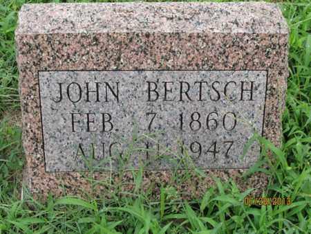 BERTSCH, JOHN - Montgomery County, Kansas | JOHN BERTSCH - Kansas Gravestone Photos