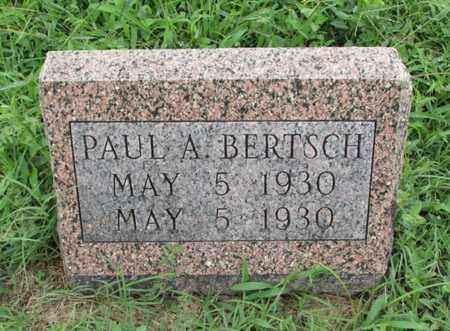 BERTSCH, PAUL A - Montgomery County, Kansas | PAUL A BERTSCH - Kansas Gravestone Photos